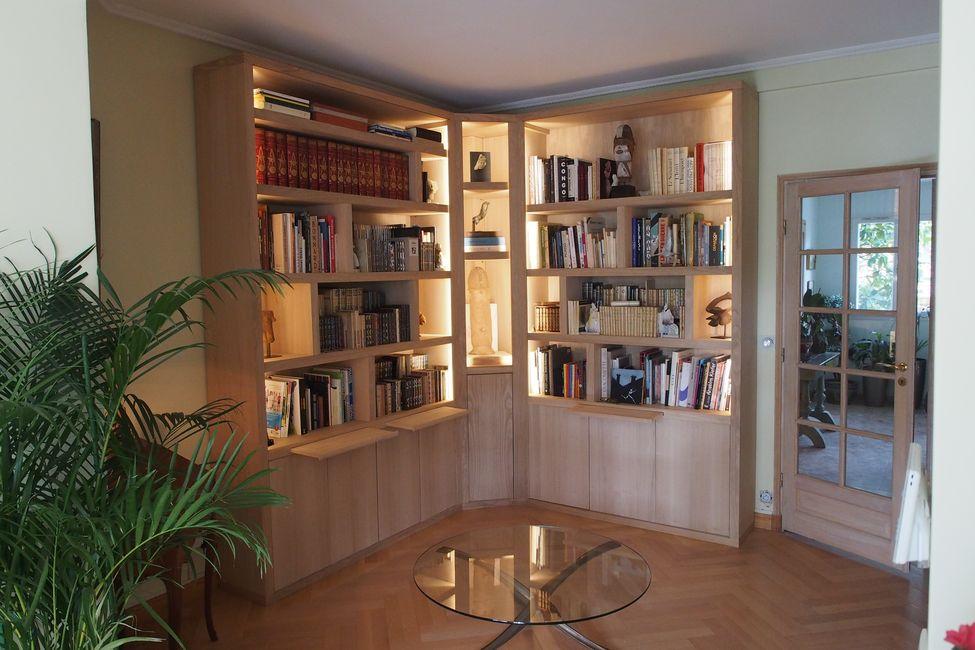 éclairage bibliothèque
