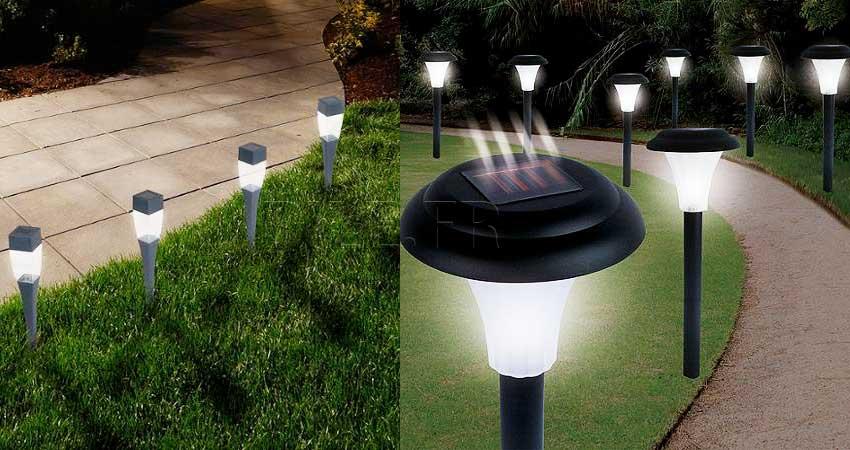 lampes solaires extérieures