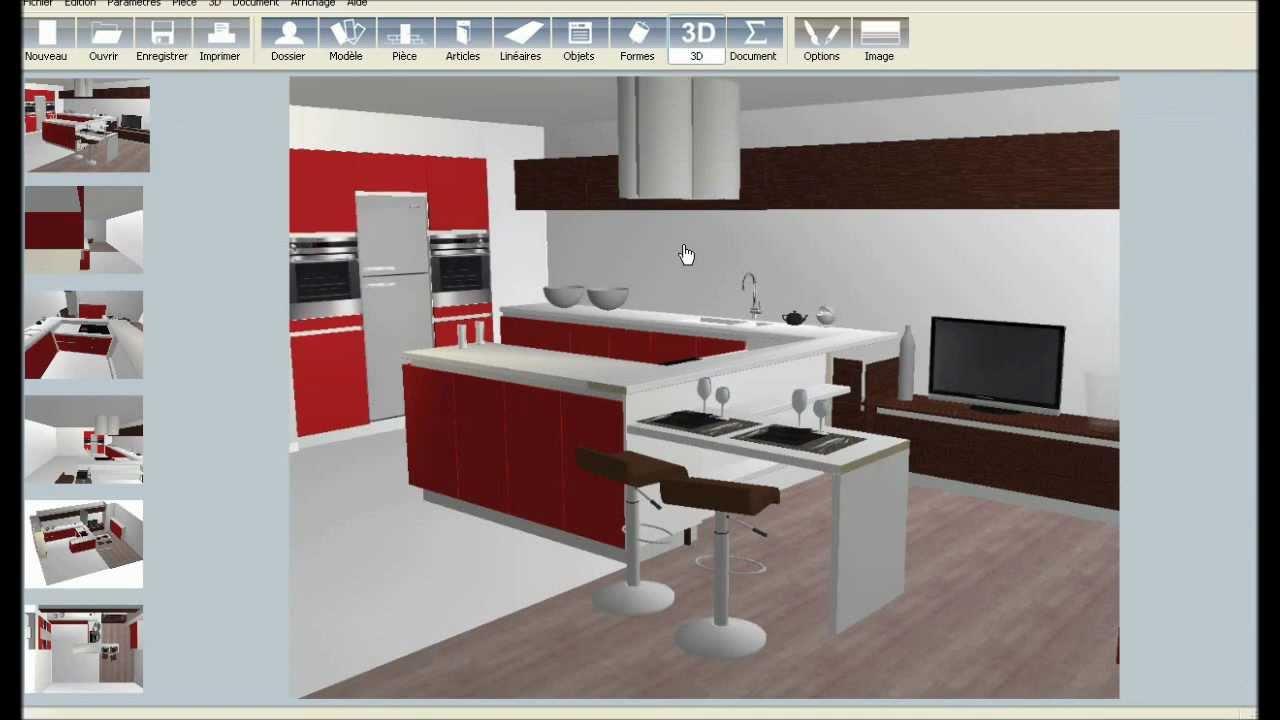 logiciel 3d cuisine