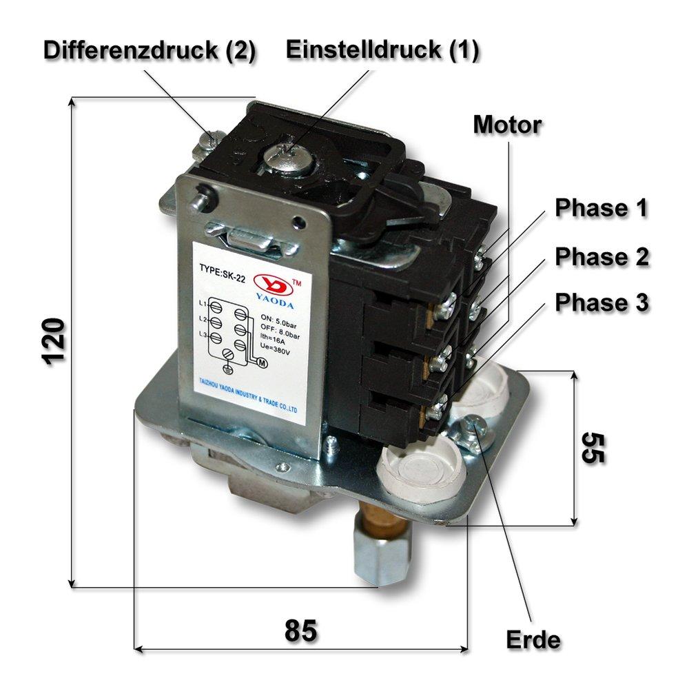pressostat compresseur 380v