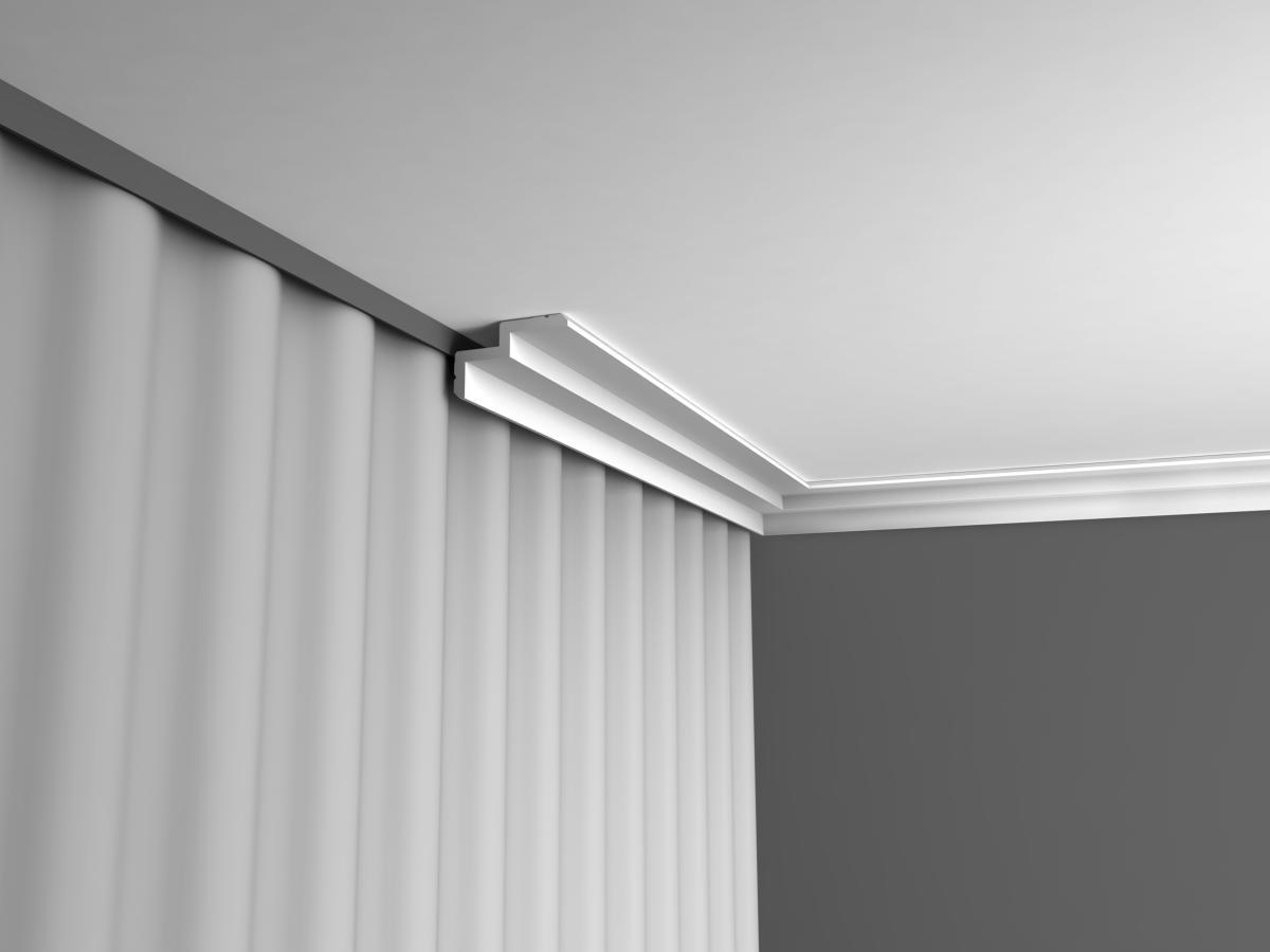 rail rideau plafond