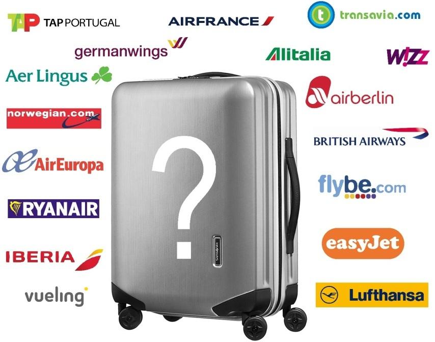 taille des valises en soute