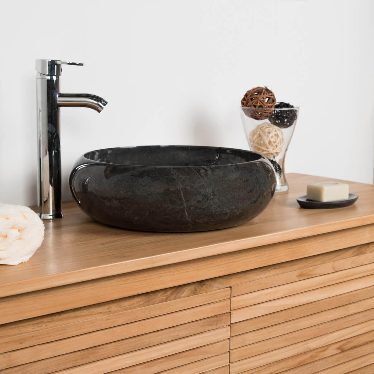 vasque noire salle de bain