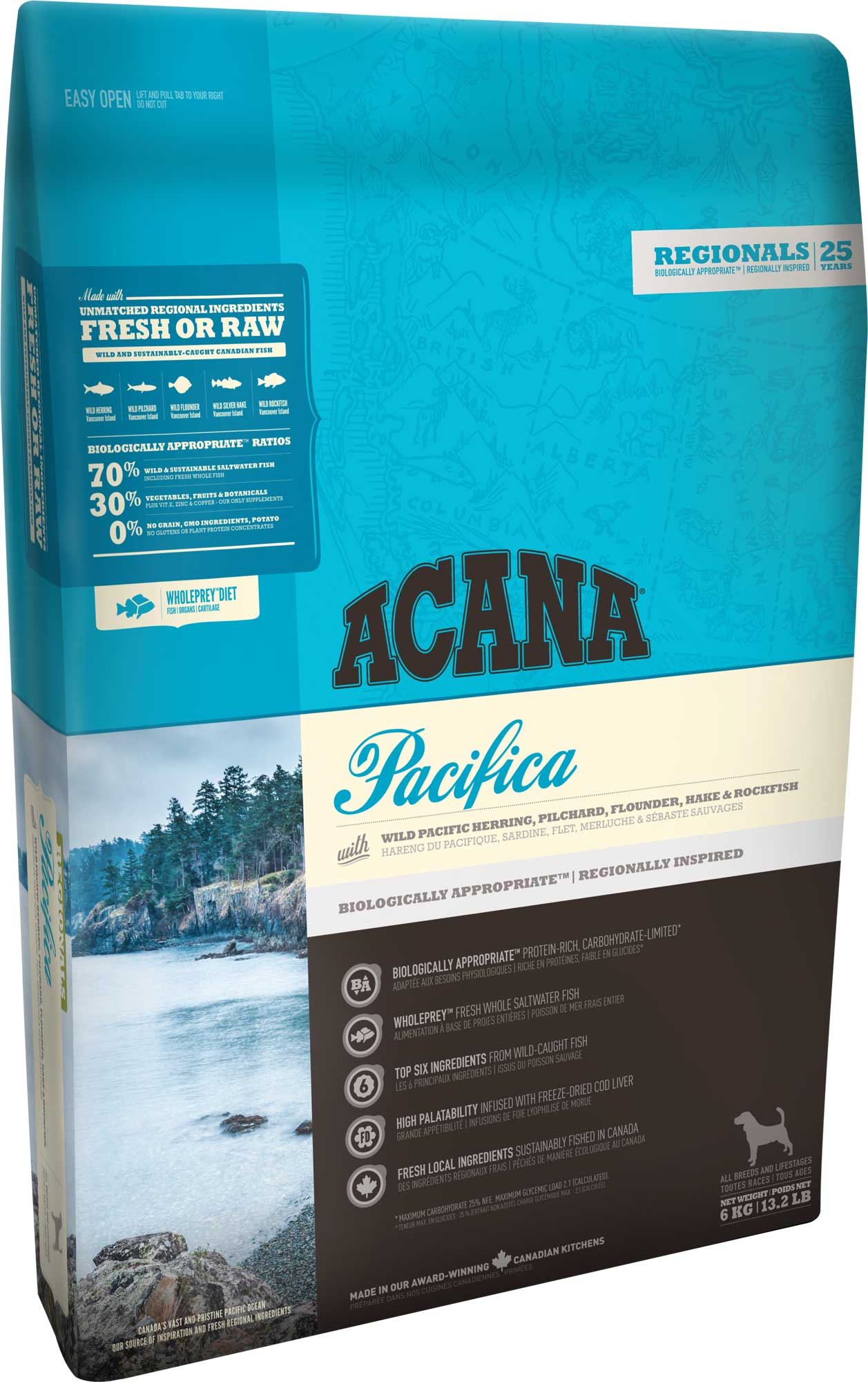 acana pacifica chien