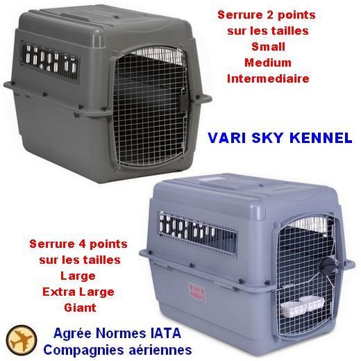 cage de transport pour chien spéciale avion norme iata