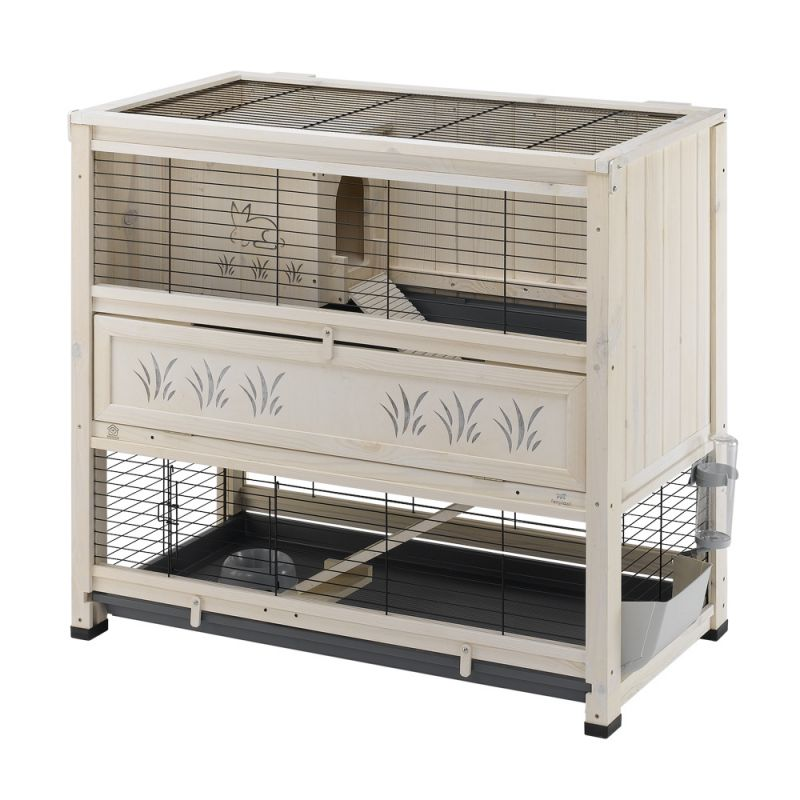 cage lapin bois interieur