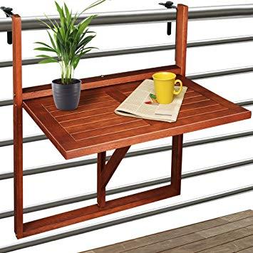 table balcon suspendue