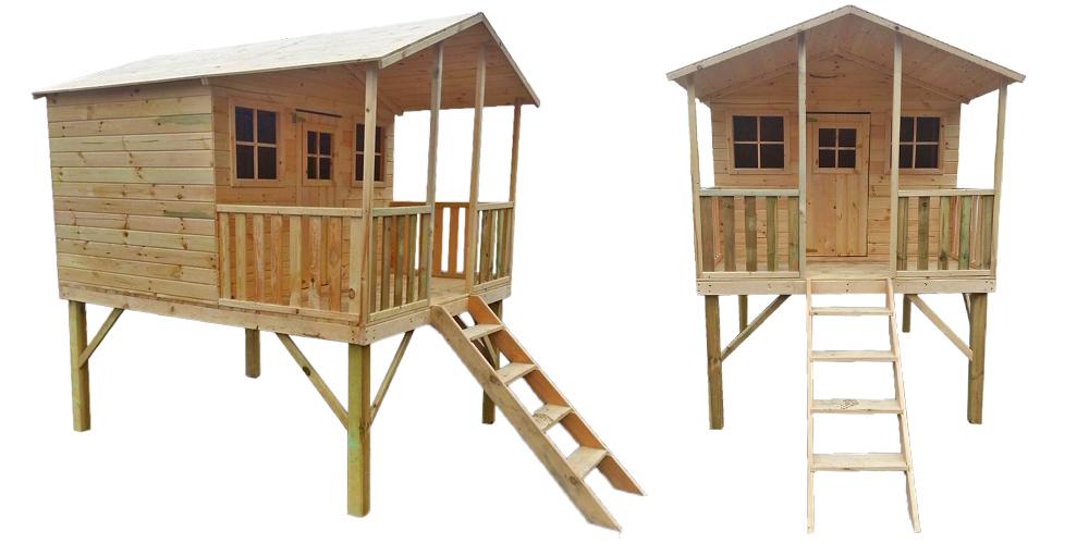 cabane en bois sur pilotis