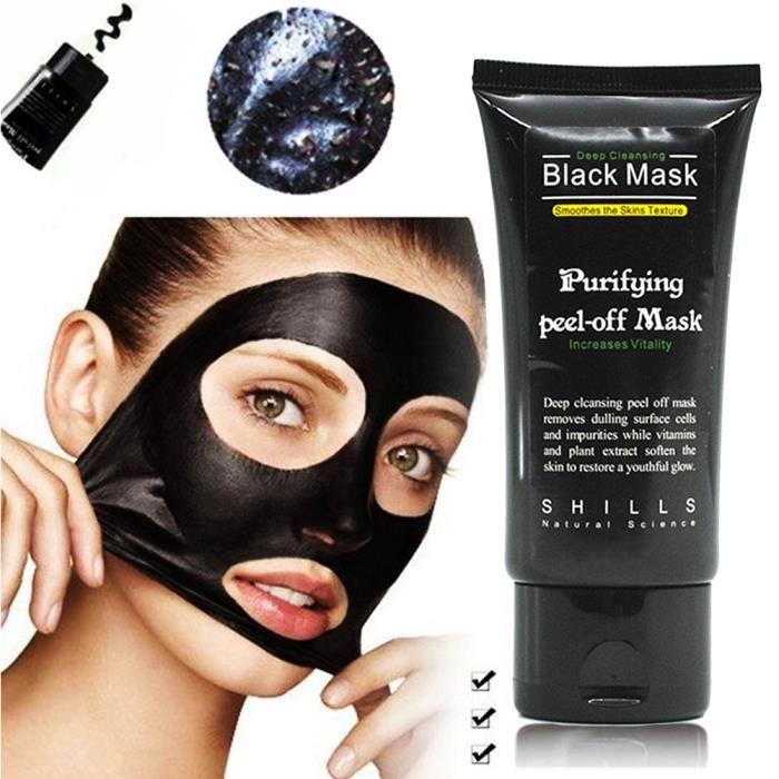 masque charbon noir