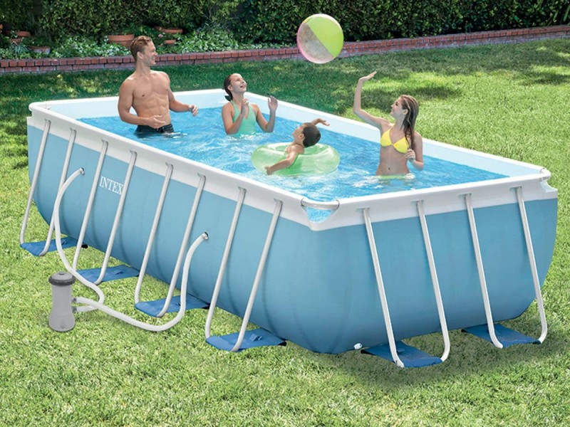 piscine tubulaire rectangulaire intex
